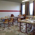 Im Raum des Festungsbauprojekts sieht es aus, als hätte eine Bombe eingeschlagen.