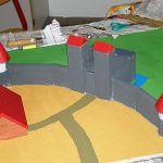 Ein weiterer Teil der Festung aus dem Festungsbauprojekt unter der Leitung von Herrn Arndt. Die Türme und ein Haus sind hier schon zu erkennen