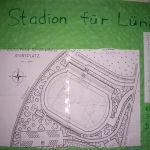 Ein Stadion für Lünen! Das Projekt Stadionarchitektur befasste sich neben den großen Fußballstadien auch mit den hiesigen Bauprojekten.